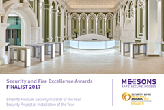 Meesons achieve Finalist status at Security and Fire Excellence awards 2017