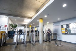 Slim Speed Gate in library entrance