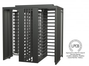 LPS1175 Issue 8 certified Full height high security turnstile