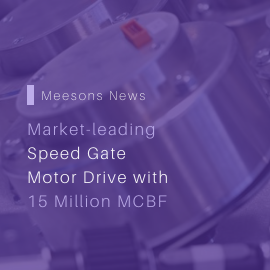 Market-leading Speed Gate Motor Drive with 15 Million MCBF