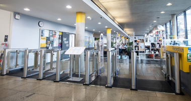 Meesons EasyGate SG 1000 Speed Gates Goldsmiths University London, Education Sector Security